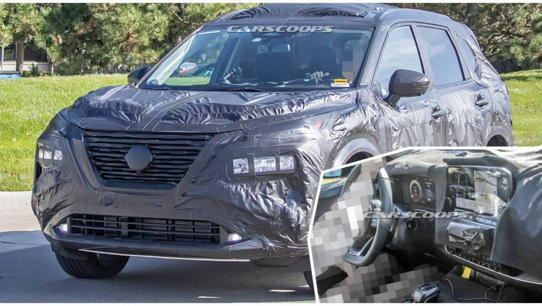 2021 Nissan Rogue Spy Shots Reveal Juke-Like Face, Display-Rich Interior