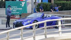 2020 Lexus LC Convertible Spotted Undisguised During Photoshoot On The Street