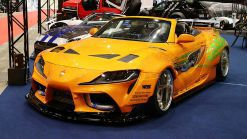 Students create a 2JZ-powered Toyota Supra convertible from a Lexus