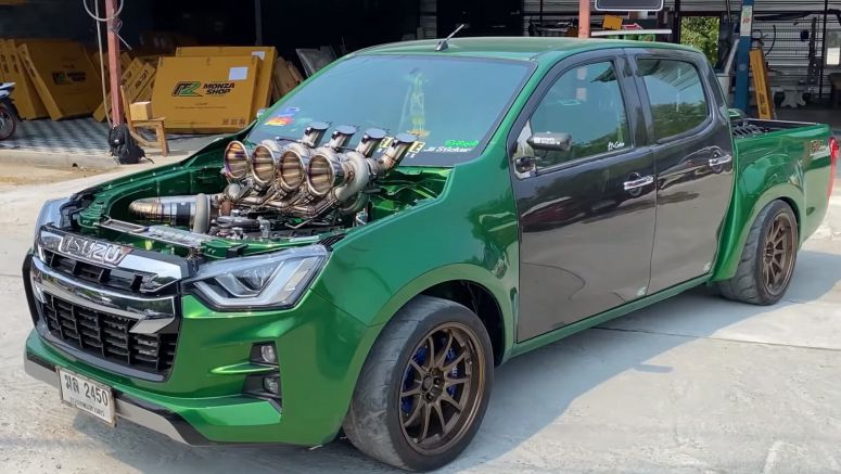 This Crazy Isuzu D-Max Truck In Thailand Has FIVE Turbochargers