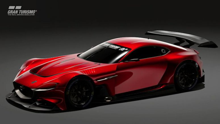 Mazda GT3 concept based on RX-Vision show car has Gran Turismo debut