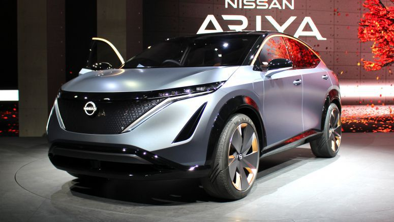 Production Nissan Ariya crossover EV shown in leaked patent images