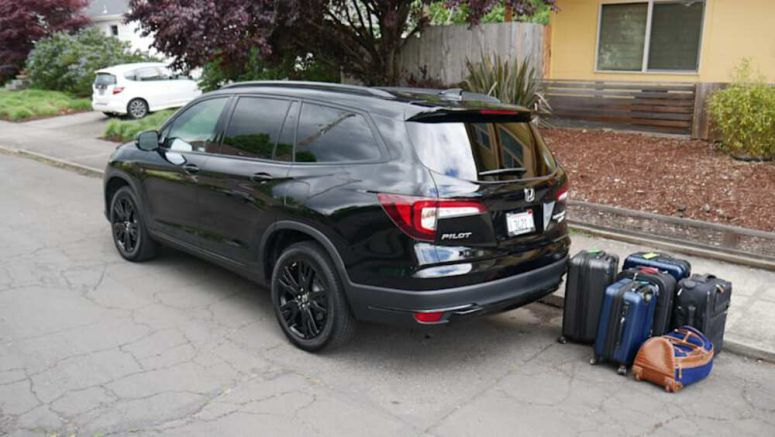 2020 Honda Pilot Luggage Test | How much fits behind the third row?