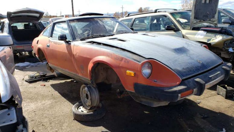 Junkyard Gem: 1980 Datsun 280ZX Black Red 10th Anniversary Edition