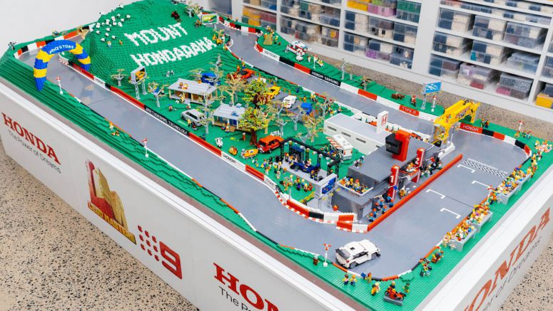 LEGO: Australia's Mount Panorama Circuit Recreated Using 150,000 Bricks With A Honda Twist