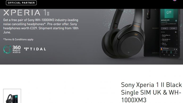 Sony opens Xperia eStore for Xperia 1 II pre-orders in Europe