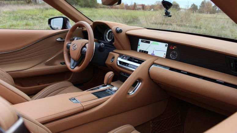 2021 Lexus LC 500 Convertible Interior Driveway Test | Photos, video