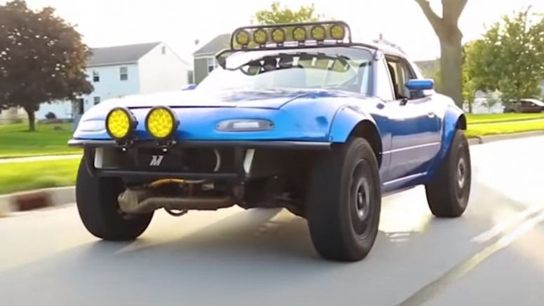 This Lifted, AWD, Subaru WRX-Powered Mazda MX-5 Miata Is A Go-Anywhere Machine
