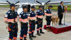 """Flying doctor"" team for disaster relief unveils aircraft in Saga"
