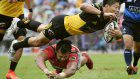 Rugby: Defending champs Suntory steal victory from jaws of defeat