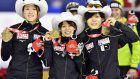 Speed skating: Japan wins World Cup women's team pursuit in world record
