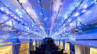 Seasonal lights leave passengers starry-eyed on Asato Line train
