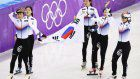Olympics: S. Korea claims gold in women's 3,000 short track relay