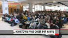 Fans watch Hanyu on super hi-definition TV