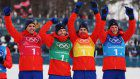 Olympics: Norway wins men's 4x10-km cross-country relay
