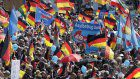 German nationalists march in Berlin, face counter-protests