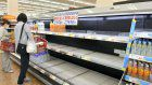 Supermarkets in Osaka Pref. quickly sell out of food, drinks after quake