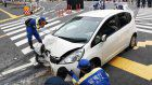 7 injured after driver hits gas instead of brake at busy intersection in Tokyo