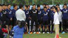 In Photos: Japan's Princess Hisako joins Samurai Blue training session