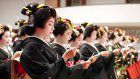 Geisha, 'maiko' make New Year's vows in Gion to hone their art