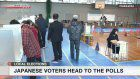 Japanese people casting in local election