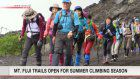 Mt. Fuji trails open in Shizuoka Pref. side