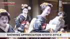 Traditional entertainers in Kyoto thank supporters