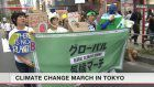 People march for climate action in Shibuya