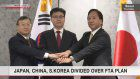 Japan, China, S.Korea divided over FTA plan