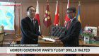 Aomori governor wants Misawa base to halt drills