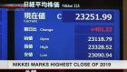 Nikkei index closes at 2019 high