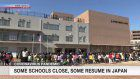Students gather in schoolyard to mark new year