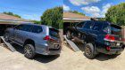 Toyota Land Cruiser vs Lexus LX 570 Suspension Flex Test | Measuring suspension articulation on an RTI ramp