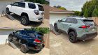 Toyota 4Runner vs Toyota Land Cruiser vs Toyota RAV4 TRD Off-Road Suspension Flex Test