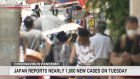 Japan reports nearly 1,000 new cases on Tuesday
