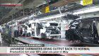 Japanese carmakers bring output back to normal