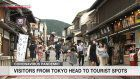 Tokyo residents, other tourists crowd Kyoto temple