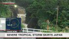 Severe tropical storm skirts Japan