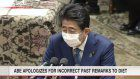 Former PM Abe apologizes for past comments in Diet
