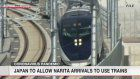 Japan to prepare train cars for Narita arrivals