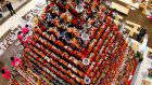 Japan's tallest 'hina doll' tower rises 7 meters high in Saitama