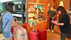 Private shops offer unused spaces for tourists' luggage