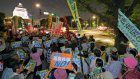 Protesters gather in front of Diet 2 years after adoption of security laws