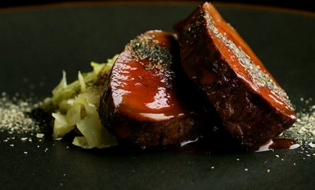 Kelp coating gives richness, Japanese touch to venison dish