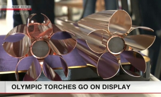Olympic torches for Tokyo Games on display