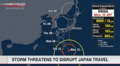 Storm threatens to disrupt travel in Japan