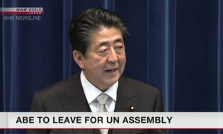 Abe to leave for New York to attend UN Assembly