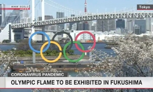Olympic flame to be exhibited in Fukushima, Tokyo