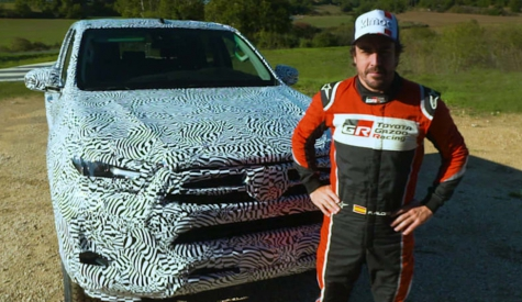 Fernando Alonso tests the new 2020 Toyota Hilux