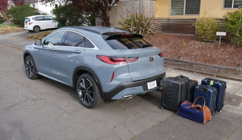 2021 Infiniti QX55 Luggage Test | The price to be paid for a coupe